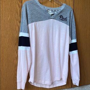 Pink lace-up Sweatshirt